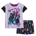 Disney's Descendants Girls 6-14 Wickedly Cool Top & Shorts Pajama Set