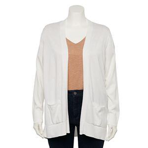 Plus Size Croft & Barrow® Open Front Cardigan