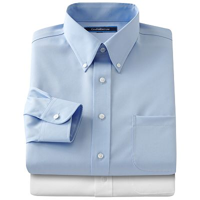 Croft and Barrow Classic-Fit Solid Non-Iron Button-Down Collar Dress Shirt