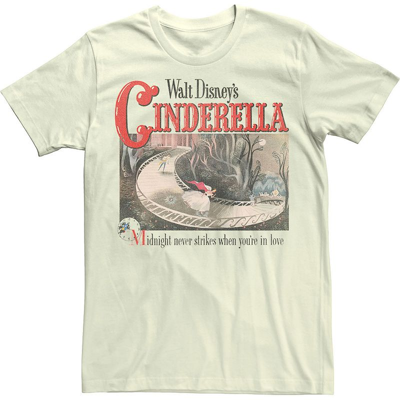 Men's Disney Cinderella 70th Anniversary Classic Poster Tee, Size: XL, Natural