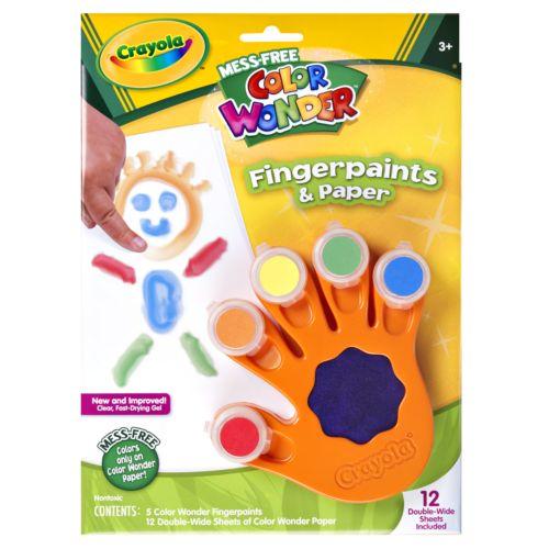 Crayola Color Wonder Fingerpaints and Paper