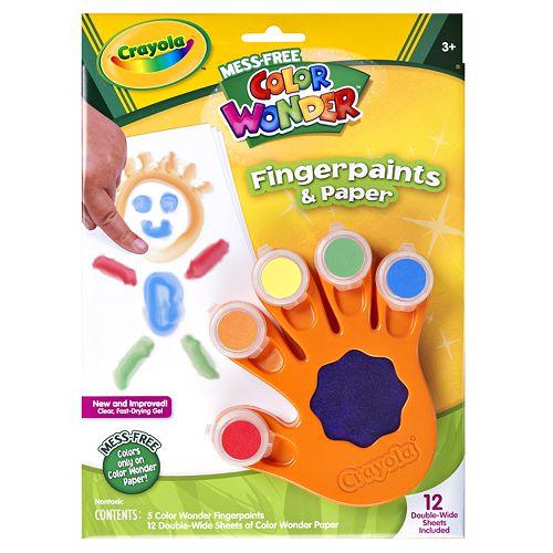 Crayola Color Wonder Fingerpaints Paper