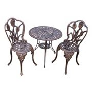 Oakland Living 3-pc. Tulip Bistro Set