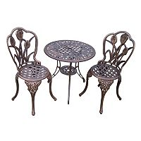 Oakland Living 3-pc. Tulip Bistro Patio Set