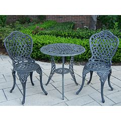 Oakland Living Mississippi 3-pc. Patio Bistro Set
