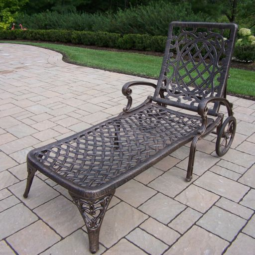Oakland Living Mississippi Patio Chaise Lounge - Outdoor