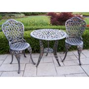 Oakland Living Tea Rose 3-pc. Patio Bistro Set