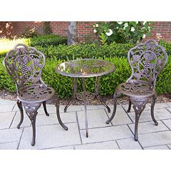 Oakland Living Vineyard 3-pc. Patio Bistro Set