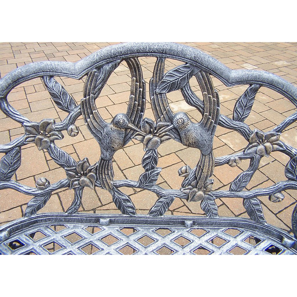 Hummingbird Cast Aluminum Outdoor Bench