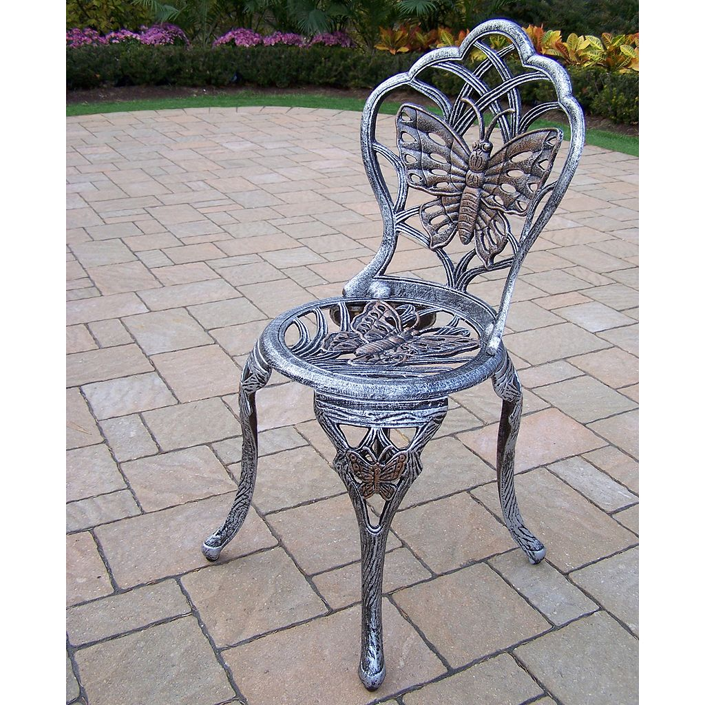 Butterfly Cast Aluminum Outdoor Bistro Table 3-piece Set