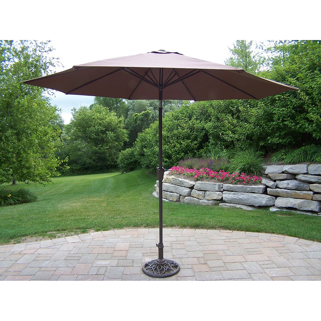 Oakland Living Crank and Tilt Sling Patio Umbrella
