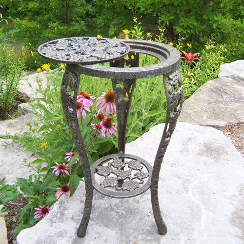 Oakland Living Grapes Table and Plant Stand - Outdoor