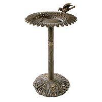 Oakland Living Sunflower & Bird Birdbath - Outdoor