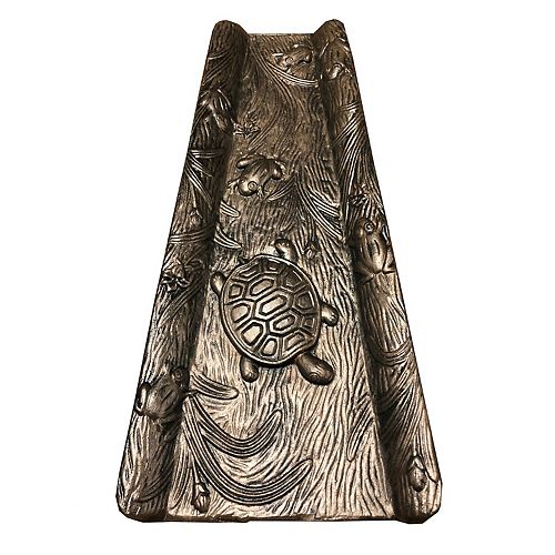 Oakland Living Frog & Turtle Downspout Splash Block - Outdoor