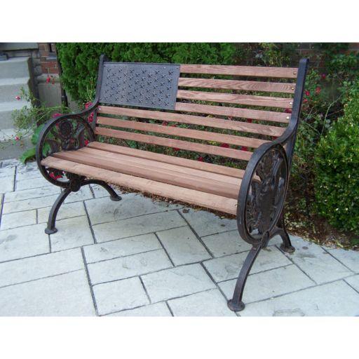 Oakland Living Proud American Patio Bench