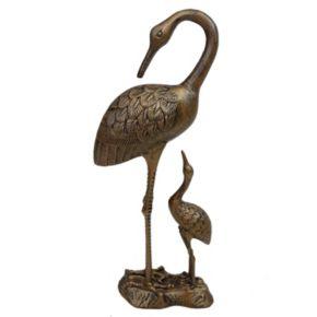Nurturing Cranes Outdoor Statue