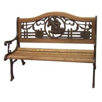 Horse Outdoor Bench