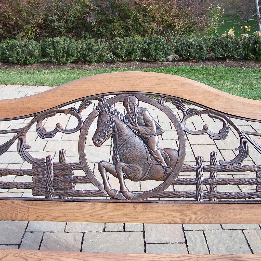 Horse Outdoor Bench