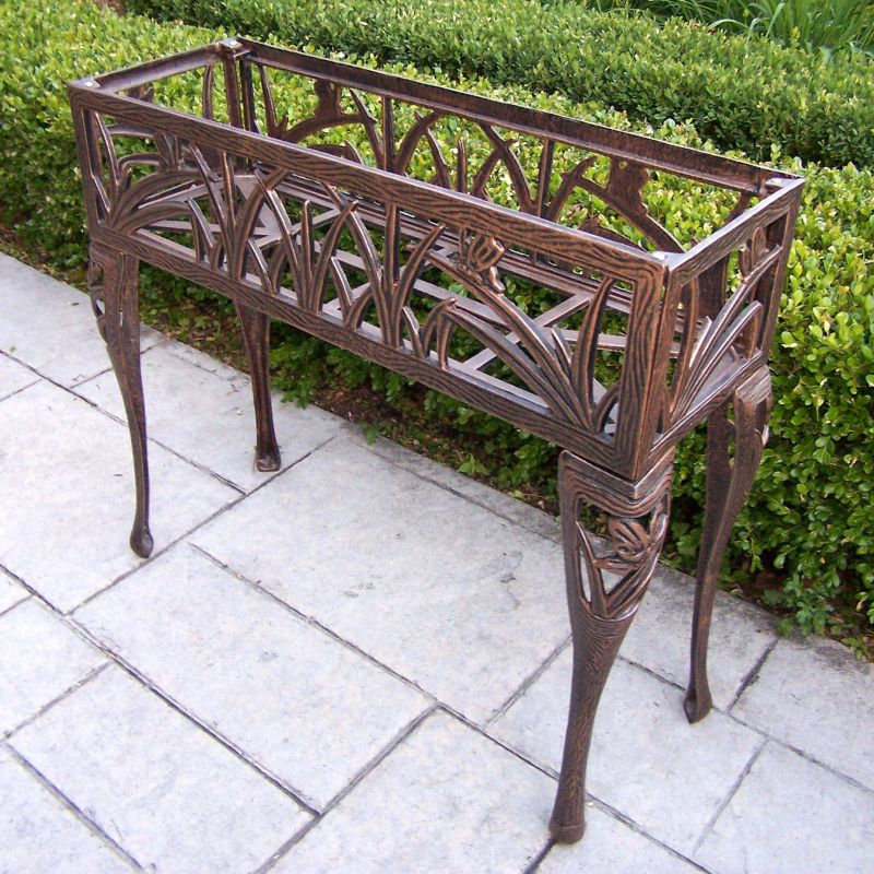 Butterfly Rectangular Outdoor Plant Stand, Brown Oth