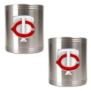 Minnesota Twins 2-pc. Stainless Steel Can Holder Set