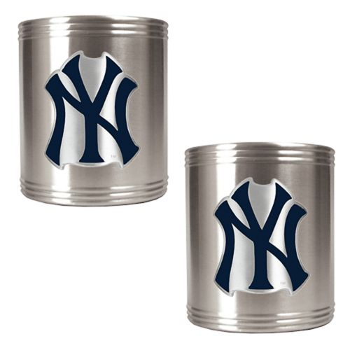 New York Yankees 2-pc. Stainless Steel Can Holder Set