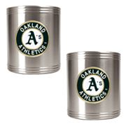 Oakland Athletics 2-pc. Stainless Steel Can Holder Set