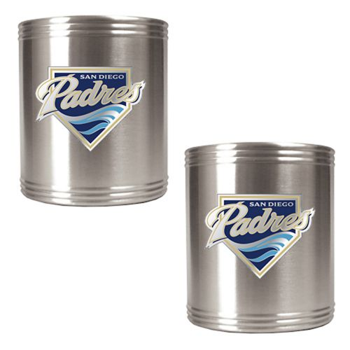 San Diego Padres 2-pc. Stainless Steel Can Holder Set