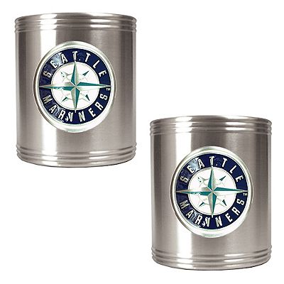 Seattle Mariners 2-pc. Stainless Steel Can Holder Set