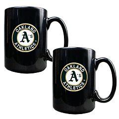 Oakland Athletics 2 pc Ceramic Mug Set