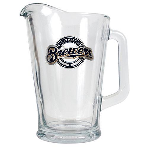 Milwaukee Brewers Glass Pitcher