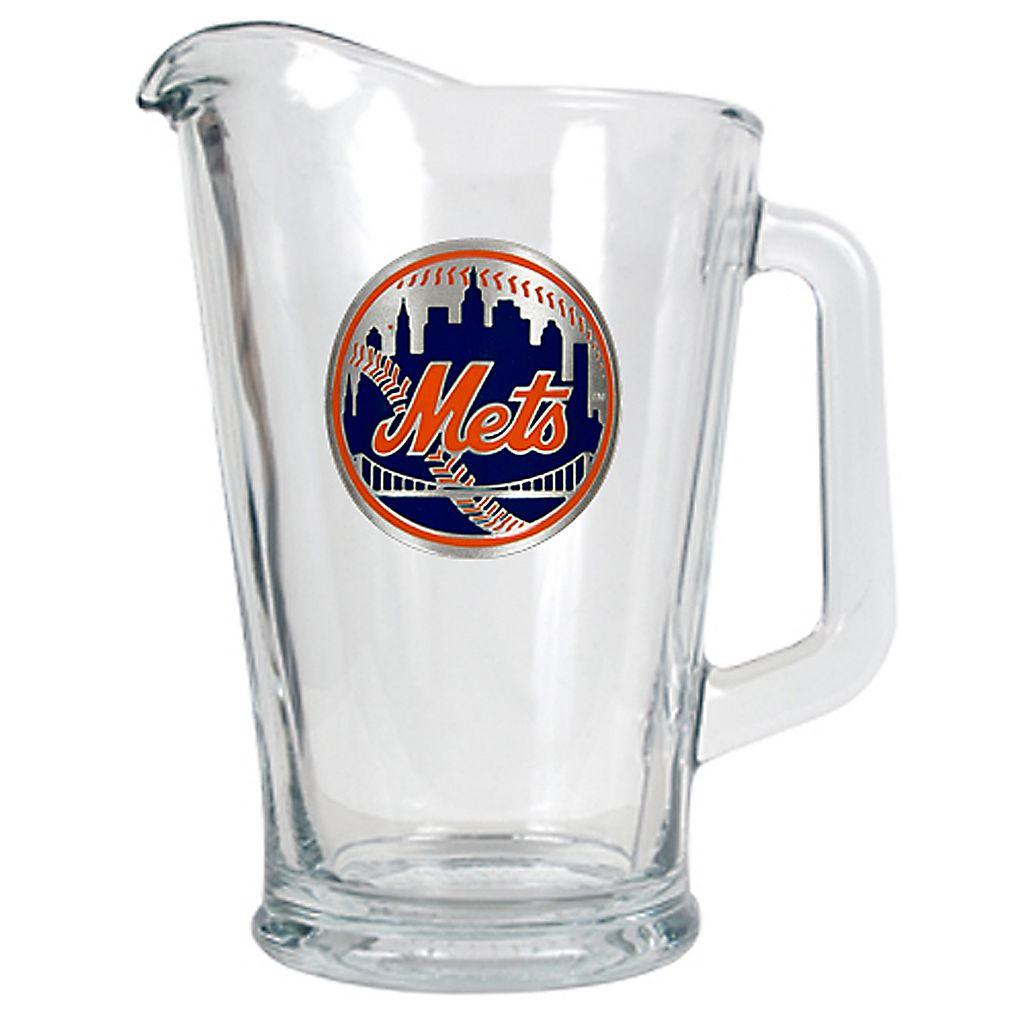 New York Mets Glass Pitcher