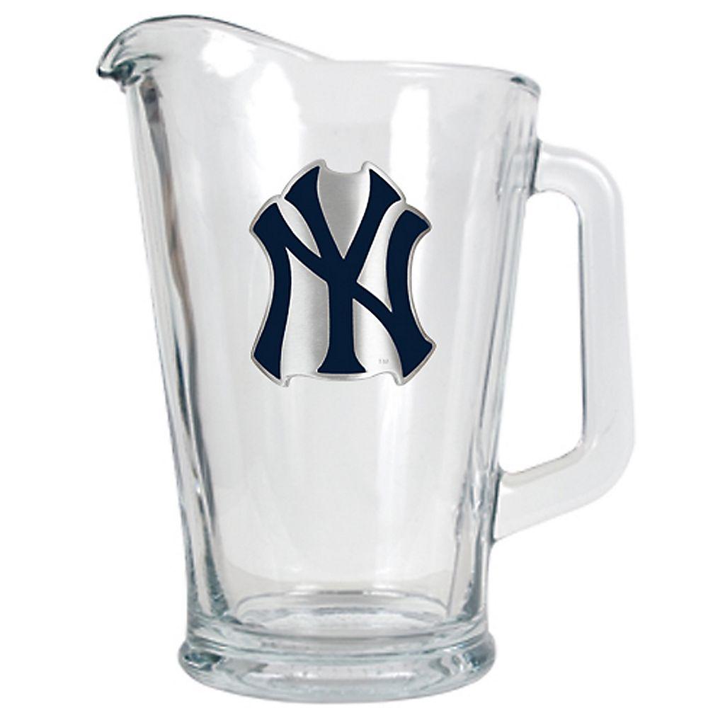 New York Yankees Glass Pitcher