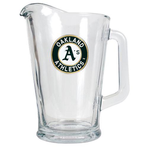 Oakland Athletics Glass Pitcher