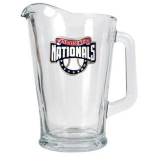 Washington Nationals Glass Pitcher