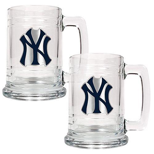 New York Yankees 2-pc. Tankard Set