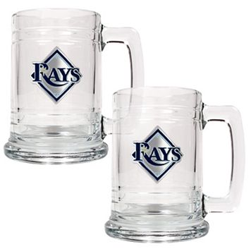 Tampa Bay Rays 2-pc. Glass Mug Set