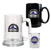 Colorado Rockies 3-pc. Mug and Shot Glass Set