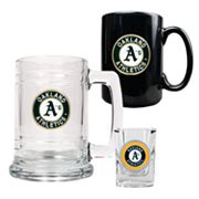 Oakland Athletics 3-pc. Mug and Shot Glass Set