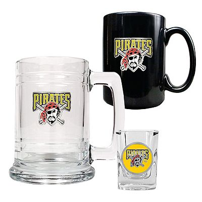 Pittsburgh Pirates 3-pc. Mug and Shot Glass Set