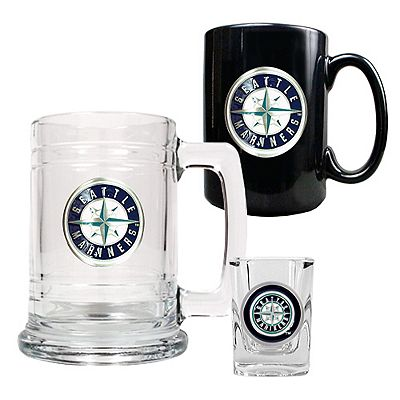 Seattle Mariners 3-pc. Mug and Shot Glass Set