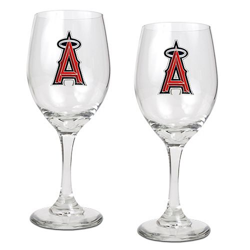 Los Angeles Angels of Anaheim 2-pc. Wine Glass Set
