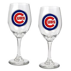 Chicago Cubs 2-pc. Wine Glass Set