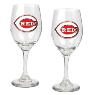 Cincinnati Reds 2-pc. Wine Glass Set