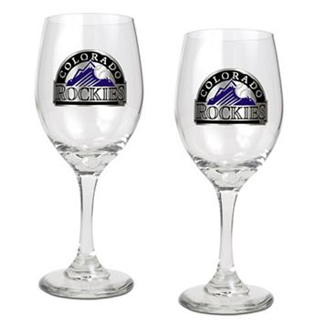 Colorado Rockies 2-pc. Wine Glass Set
