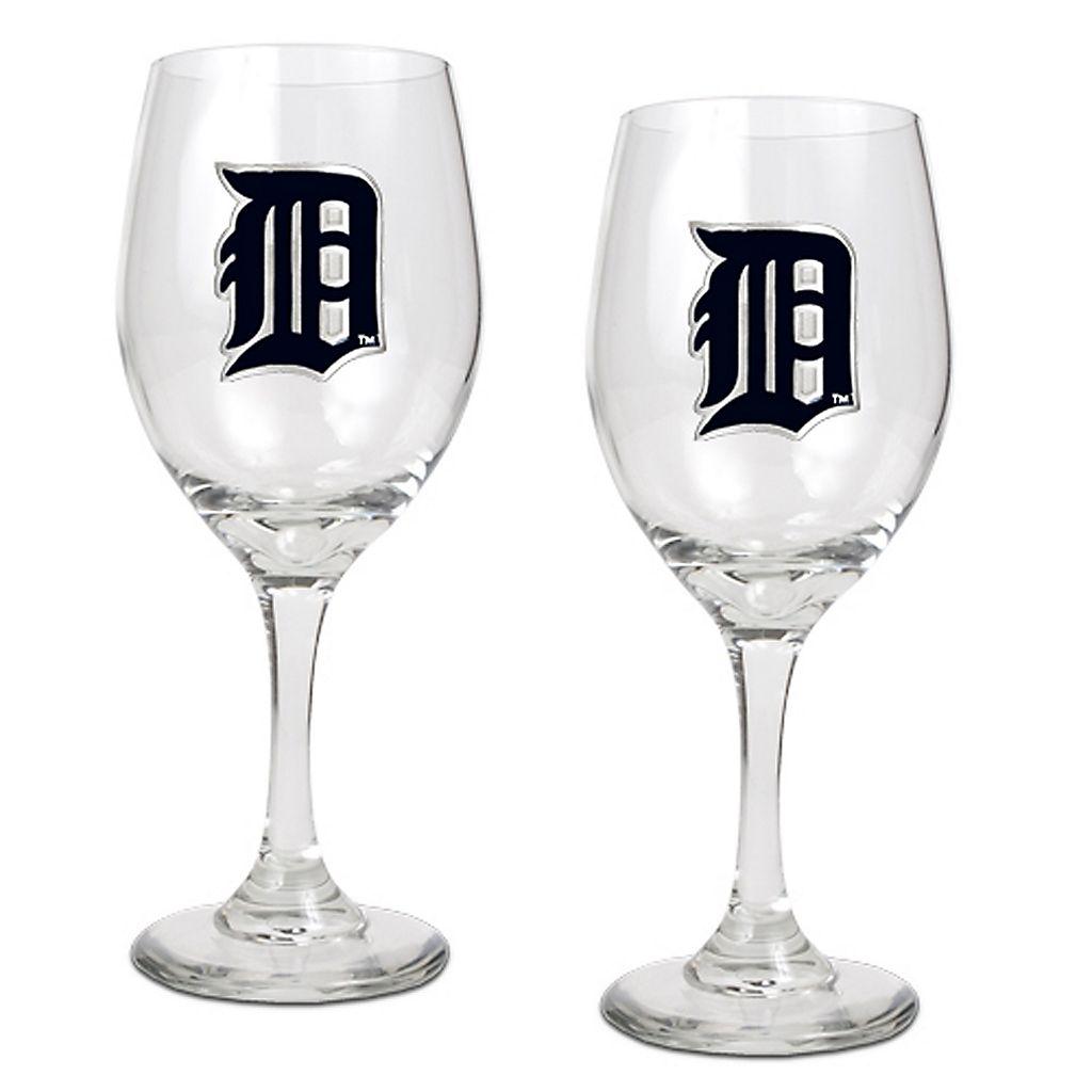 Detroit Tigers 2-pc. Wine Glass Set