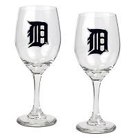 Detroit Tigers 2-pc. Wine Glass Set