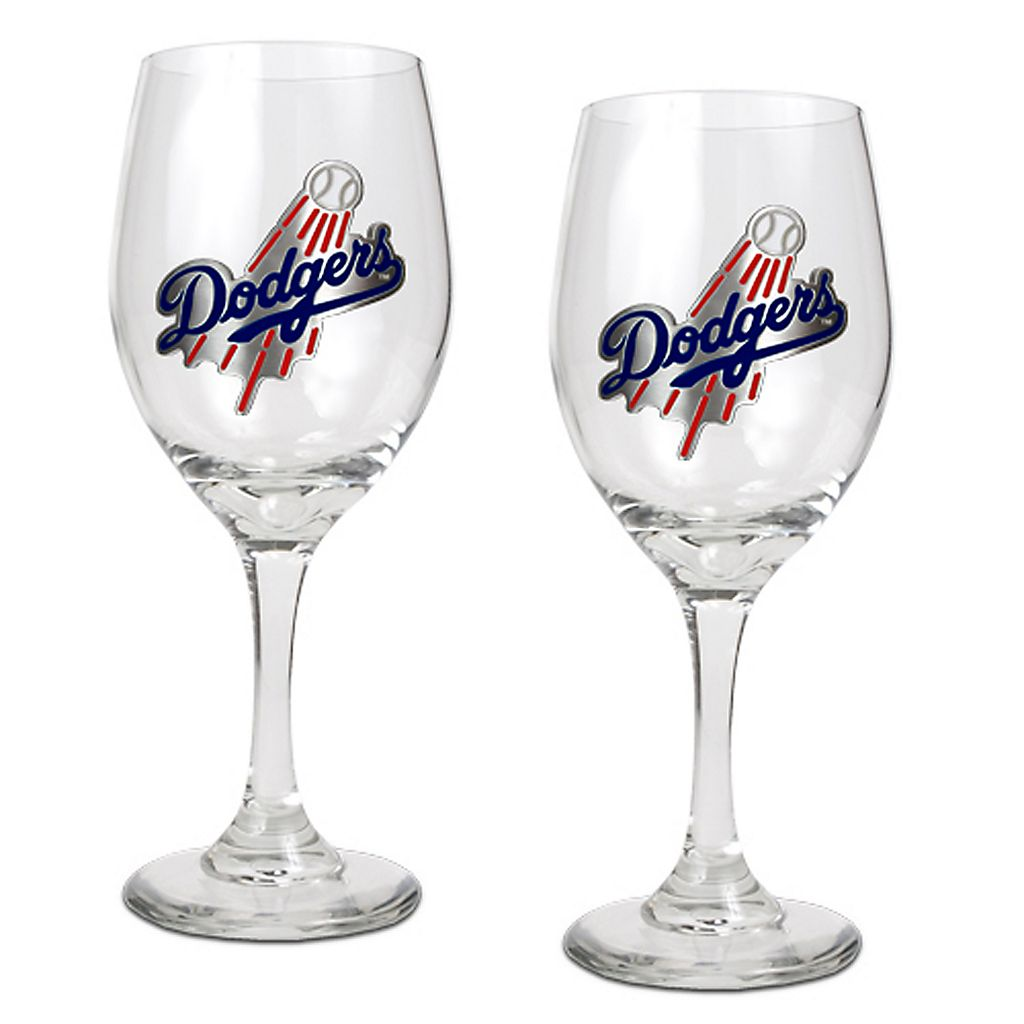 Los Angeles Dodgers 2-pc. Wine Glass Set