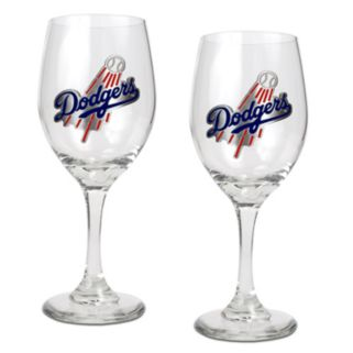 Los Angeles Dodgers 2-pc. Wine Glass Set