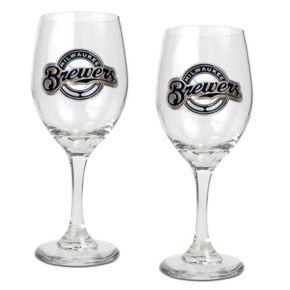 Milwaukee Brewers 2-pc. Wine Glass Set