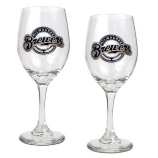 Milwaukee Brewers 2-pc. Wine Glass Set